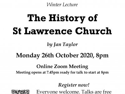 A History of St Lawrence Church Abbots Langley - online ZOOM Tal