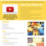 Art Journalling for families - Whitsun Holiday Activity