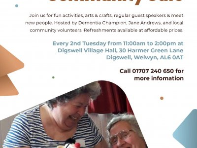 Dementia Friendly Community Cafe Digswell