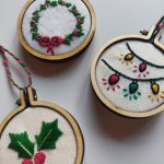 Hand Embroidery - Mini Hoop Christmas Decorations