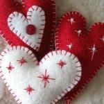 Hand Stitched Felt Christmas Decorations