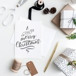 Handmade Christmas: Calligraphy card creations