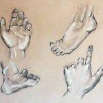 Hands and Feet Art Project by artist & lecturer Julie Arnall -