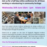 Hertfordshire Community Archive & Heritage Conference