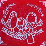 Kids Club Fine Art : Christmas Monoprinting