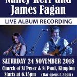 Nancy Kerry and James Fagan LIVE album recording 24 November 201