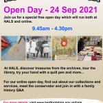 Open Day (in person at HALS ) Afternoon session