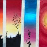 Silhouette Acrylic Painting Class with Deana Kim Page