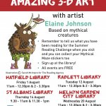 Summer Reading Challenge art workshops with Elaine Johnson