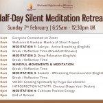 Virtual Half-Day Silent Meditation Retreat   Sunday 7th February