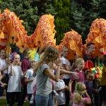 GSTARS Carnival Dragon at Royston Arts Festival 2016