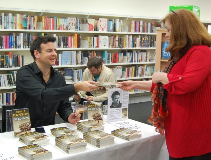 Chris Danson Harpenden book signing