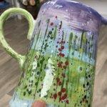 Summer Floral Pottery Design