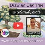 Draw an oak tree step-by-step