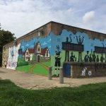 Mural at Moatfield ground Bushey