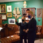 Museum's reopening - visit from Oliver Dowden MP and others