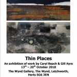 Wynd Gallery Letchworth Thin Places: Gill Ayre Caryl Beach