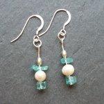 Blues and Pearls / Handmade silver, pearl and semi-precious gemstones.