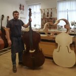 Double bass maker and string instrument repairer opens workshop
