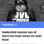 Yorkshire Live article. Pat Fulgoni / Music Venue Trust